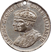 Medallion - George VI and Elizabeth Coronation – obverse
