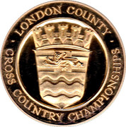 Medal - London County Cross Country Championships – obverse