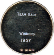 Medal - London County Cross Country Championships – reverse