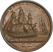 Medal - Napoleon Bonaparte Surrendered to HBMS Bellerophon – reverse