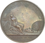 Medal - John Jervis, Earl St. Vincent (Victory at the battle of Cape St Vincent) – reverse