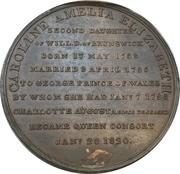 Medal - Accession of Queen Caroline – reverse