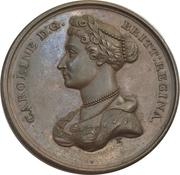 Medal - Return to England of Queen Caroline – obverse