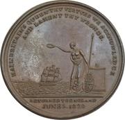 Medal - Return to England of Queen Caroline – reverse