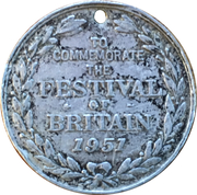 Medal - George VI and Elizabeth (To Commemorate The Festival of Britain) – reverse