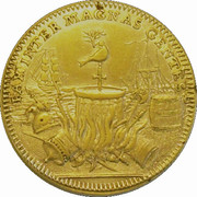Medal - Peace proclaimed between Gt. Britain & France – obverse