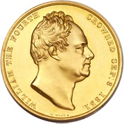 Medal - William IV - Coronation – reverse