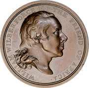 Medal - William Wilberforce – obverse