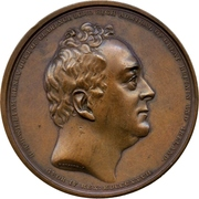 Medal - Duke of Clarence appointed as Lord High Admiral – obverse