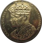 Medal - George VI and Elizabeth Coronation (presented by W.L. Everard MP) – obverse