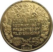Medal - George VI and Elizabeth Coronation (presented by W.L. Everard MP) – reverse