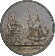 Medal - Loss of the East Indiaman Kent – obverse
