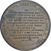Medal - Loss of the East Indiaman Kent – reverse