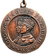 Medal - George VI & Queen Elizabeth Crowned 1937 – obverse