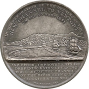 Medal - Opening of the New Channel to Newport – reverse