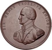 Medal - Admiral Sir Henry Trollope (Naval Engagement off Helvoetsluys) – obverse