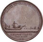 Medal - Admiral Sir Henry Trollope (Naval Engagement off Helvoetsluys) – reverse