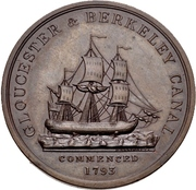 Medal - Completion of the Gloucester and Berkeley Canal – obverse