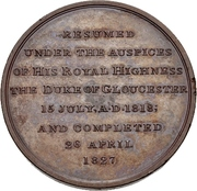 Medal - Completion of the Gloucester and Berkeley Canal – reverse