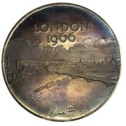 Medal - Great London Fire Tercentenary 1966 – reverse
