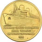Medal - Final voyages of Queen Elizabeth – obverse