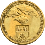 Medal - Final voyages of Queen Elizabeth – reverse