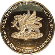 Medal - The Prince of Wales Investiture – obverse