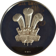 Medal - The Prince of Wales Investiture – reverse