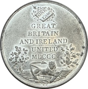 Medal - Unification of Great Britain and Ireland – reverse