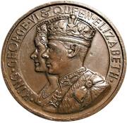 Medal - George VI & Elizabeth Coronation (Britannia) – obverse