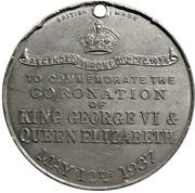 Medallion - George VI & Elizabeth Coronation – reverse