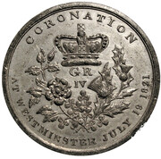 Medal - George IV Coronation (Westminster) – reverse
