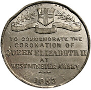 Medal - Elizabeth II (Coronation at Westminster Abbey) – reverse