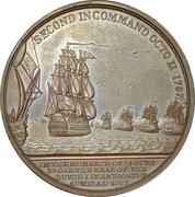 Medal - Sir Richard Onslow, Battle of Camperdown – reverse