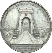 Medal - Opening of the Middlesbrough Branch Railway Bridge – obverse