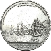 Medal - Opening of the Middlesbrough Branch Railway Bridge – reverse