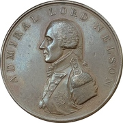 Medal - Admiral Nelson return to England – obverse