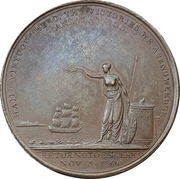 Medal - Admiral Nelson return to England – reverse