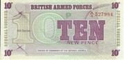 10 New Pence - British Armed Forces (6th Series) – obverse