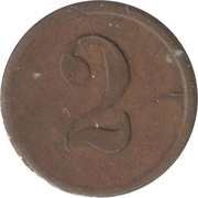 2 Pence - Clown – reverse