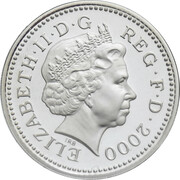 1 Pound - Elizabeth II (Welsh Dragon; Silver Piedfort) -  obverse
