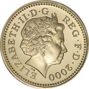1 Pound - Elizabeth II (4th portrait; Welsh Dragon) -  obverse