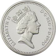 1 Pound - Elizabeth II (Welsh Leek; Silver Proof) -  obverse