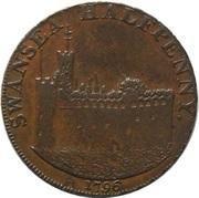 ½ Penny (Glamorganshire – Swansea / J. Voss) – obverse