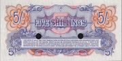 5 Shillings - British Armed Forces (2nd series) – reverse