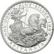2 Pounds - Elizabeth II (3rd portrait; 1 oz Fine Silver) – reverse
