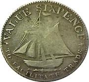 6 Pence (Hampshire - To Facilitate Trade) – reverse