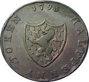 ½ Penny (Middlesex - For General Convenience) – reverse