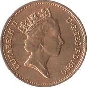 2 Pence - Elizabeth II (3rd portrait; non-magnetic) -  obverse