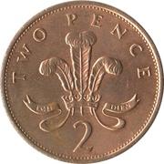2 Pence - Elizabeth II (3rd portrait; non-magnetic) -  reverse